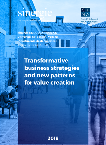 2018 – Transformative business strategies (Venice)