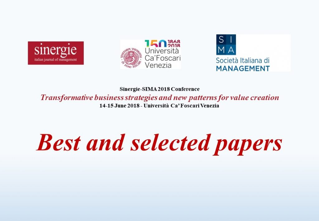 Sinergie-SIMA 2018 Conference: best paper awards