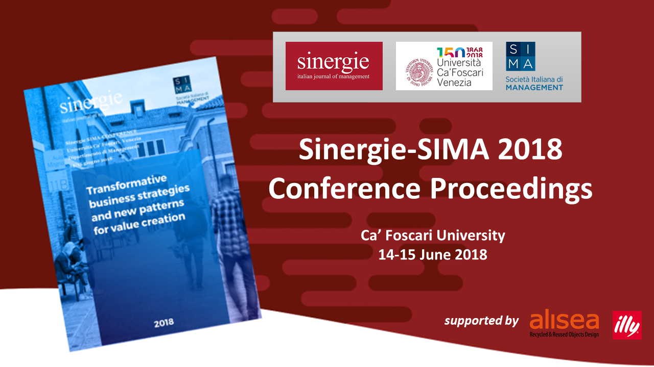 Sinergie-SIMA 2018 conference proceedings are online