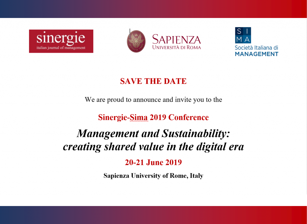 Sinergie-SIMA 2019 Conference